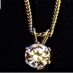 Jewelry - Vintage cz solitaire pendant